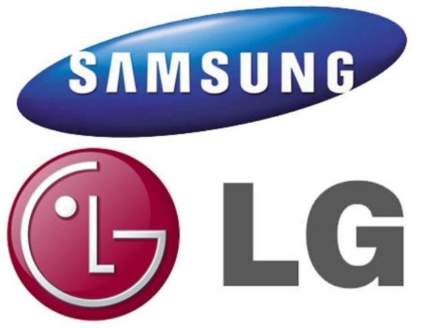 Equipos LG y Samsung con pantallas flexibles