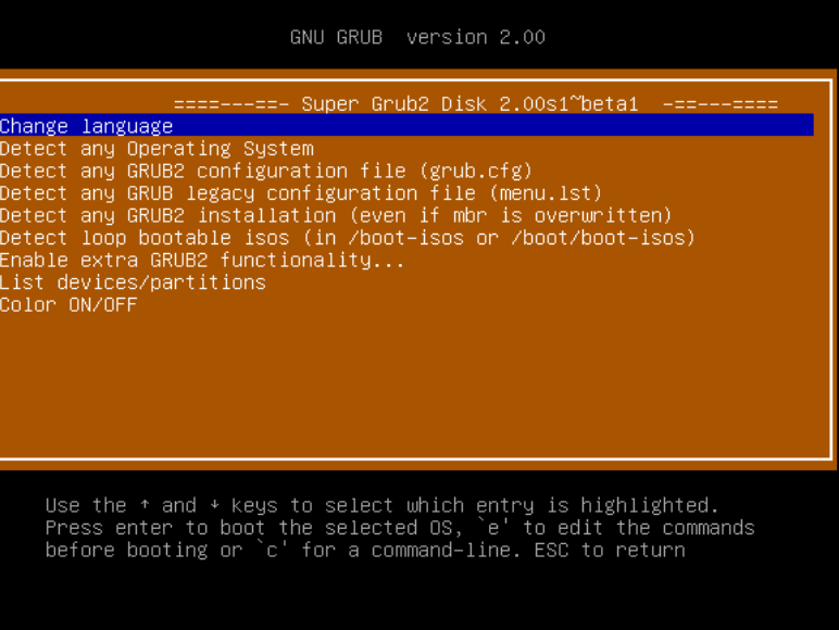 Versión estable de Super Grub2 Disk 2